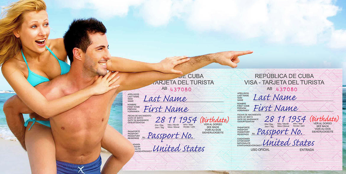 "Purchase your Cuban tourist visa online. This ""pink"" visa is for American citizens and residents arriving to Cuba from the USA."